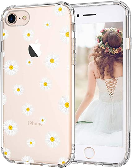 Amazon Com Mosnovo Daisy Floral Flower Pattern Designed For Iphone Se 2020 Case Designed For Iphone 8 Case Designed For Iphone 7 Case Clear