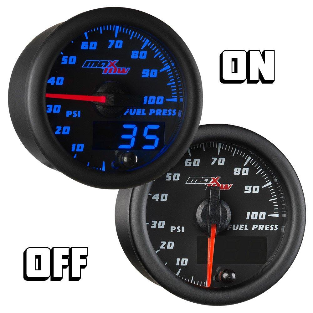 Negro & Azul maxtow 100 PSI Medidor de presión de combustible: Amazon.es: Coche y moto