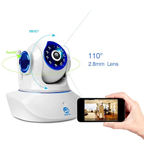 Security WiFi Camera,JOOAN Wireless IP Camera 720P Two Way Audio  Pan/Tilt/Cloud/SD Card Storage Home Security Network Surveillance