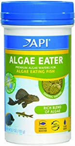 Aquarium Pharmaceuticals (2 Pack) API Algae Eater Premium Sinking Wafer for Algae Eating Fish 3.7 Ounces
