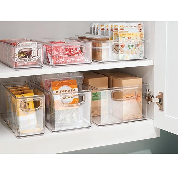 InterDesign Cabinet/Kitchen Binz Caja organizadora, pequeño organizador de cocina de plástico, cajón para frigorífico, transparente: Amazon.es: Hogar