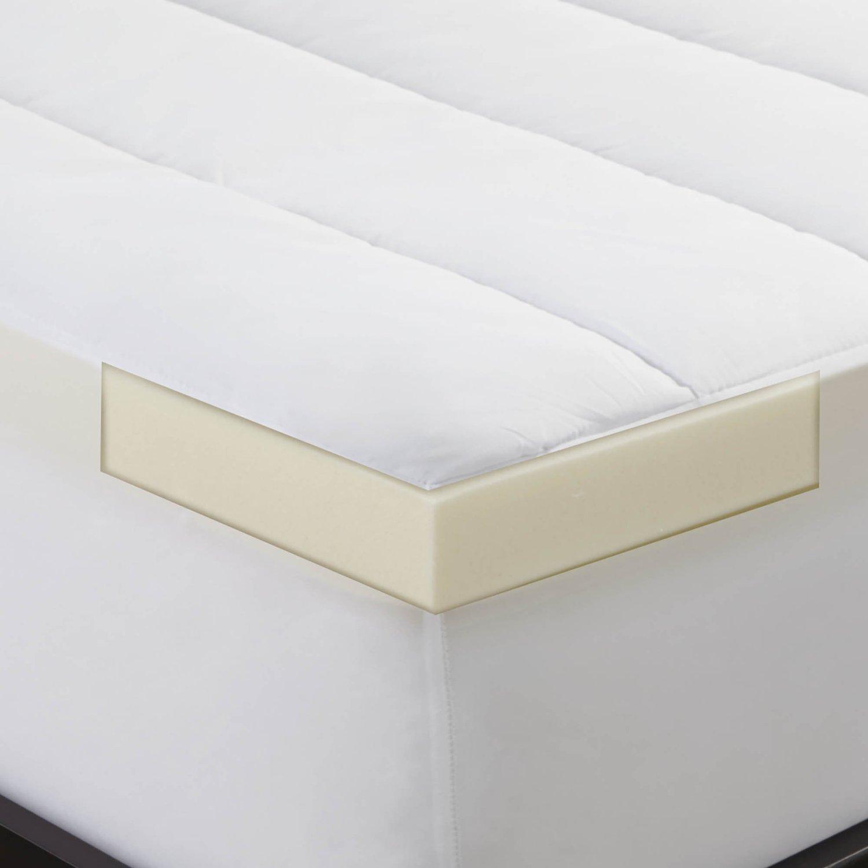 Sleep Innovations 2 Inch Memory Foam Mattress Topper And Waterproof