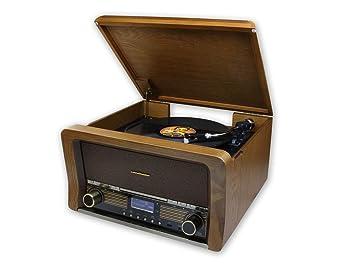 Soundmaster NR50 USB-Placa giratoria Riemenantrieb Eiche ...