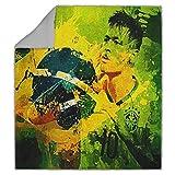 Personalized Corner Neymar Brazil Sherpa Blanket World Cup Soccer Fans