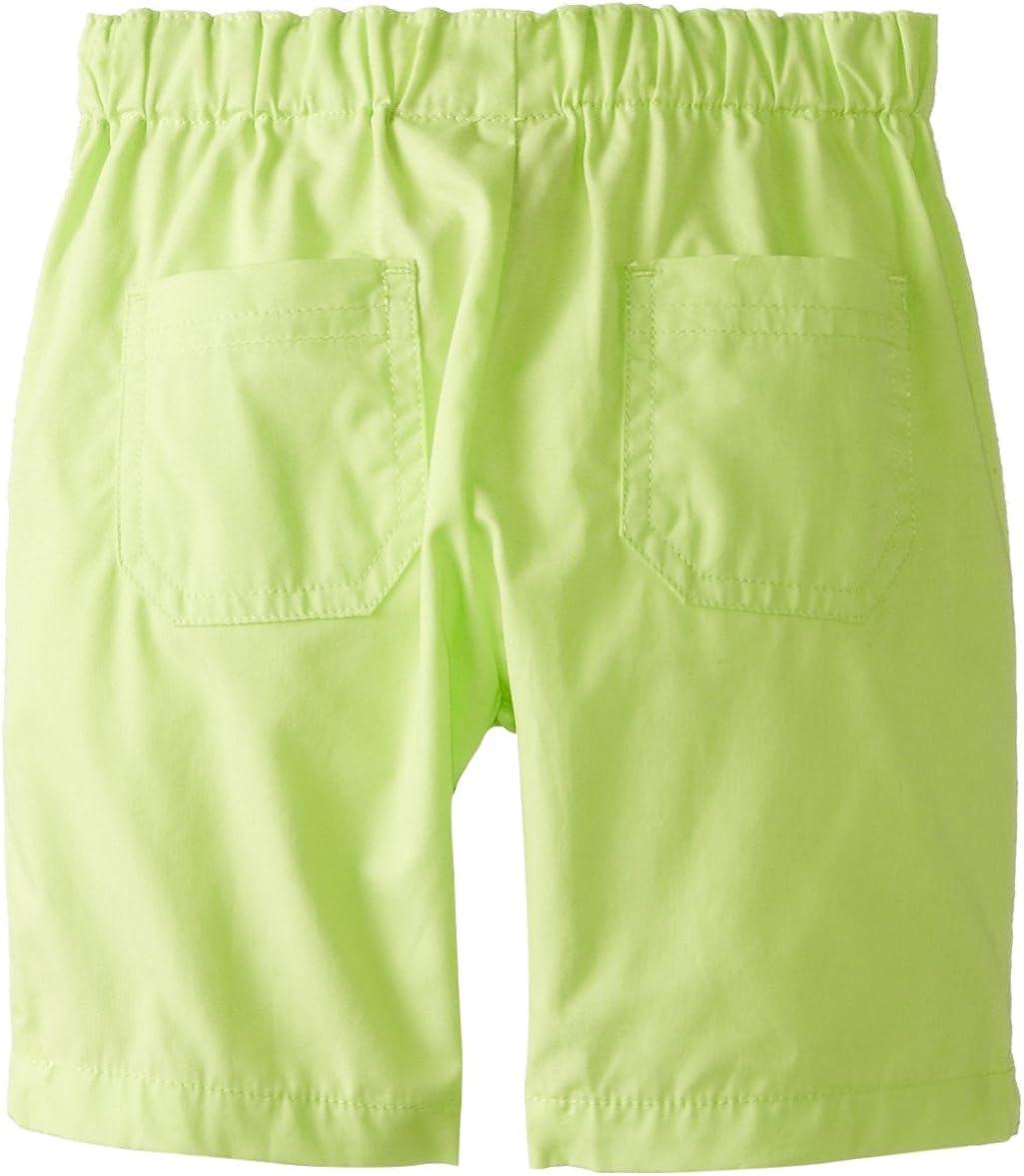 Nautica Bab Boys Newborn 2 Pc Short Sleeve Small Plaid with Drawstring Short