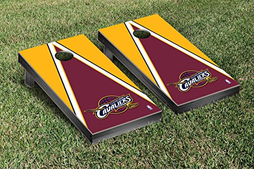 Cleveland Cavaliers NBA Basketball Cornhole Game Set Triangle Version by Victory Tailgate