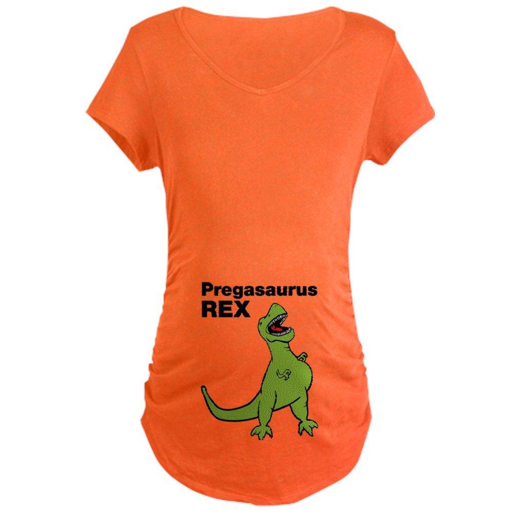 582ee896b6f31 CafePress Pregasaurus Rex, Funny Maternity Maternity Tee at Amazon Women's  Clothing store:
