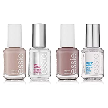 Essie 4 Piece Lacquer And Top Coat Nail Polish Quick Dry And Gel Nail Polish Set Essie Nail Polish