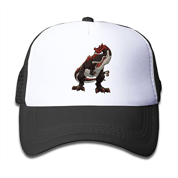 fff54ad36e8 Mesh Baseball Cap Sun Hat Kids Cap Red Dinosaur Adjustable Boy Girl