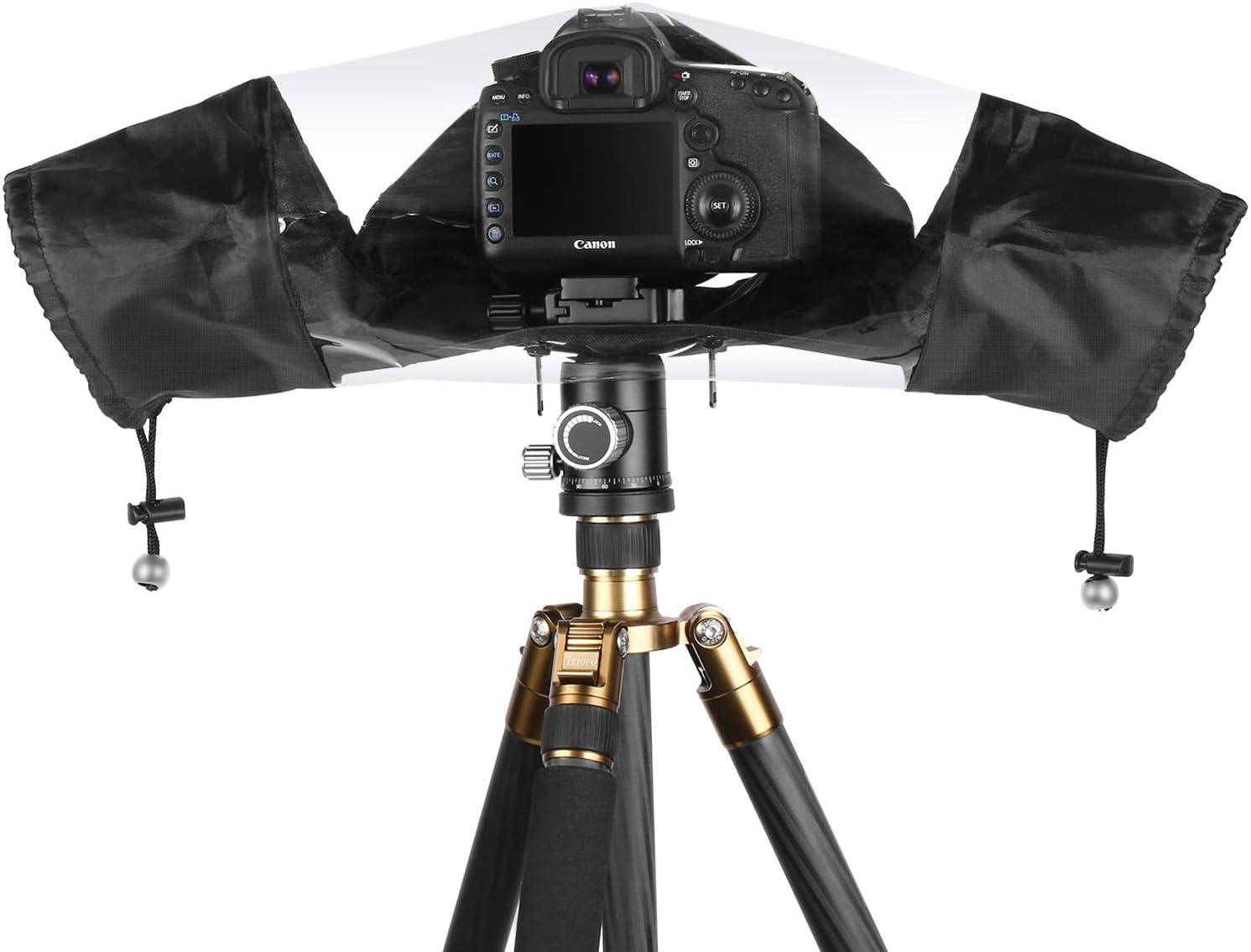 Neewer Pro Couverture Anti-Pluie Anti-poussi/ère Housse Etanche Nylon pour Canon Sony Sigma Tamron et Autres Appareils Photo DSLR Pentax Noir Nikon