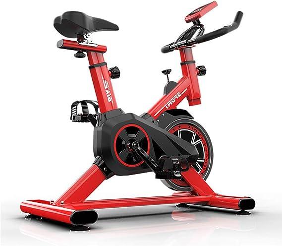 Bicicleta Spinning Profesional,Bicicleta Estatica LCD Pantalla Electronica Sensor de Frecuencia Cardiaca,Resistencia Variable Asiento Manillar Ajustables Bici Spinning Máxima de Carga 150kg,Red: Amazon.es: Deportes y aire libre