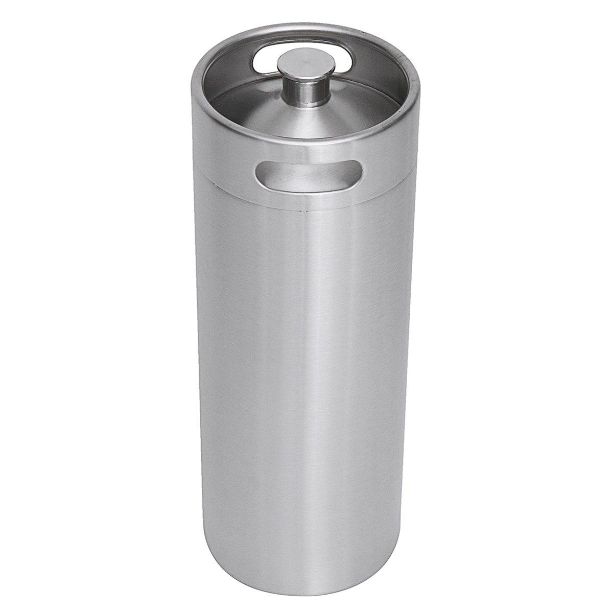 Stainless Steel Brew Barrel, SENREAL 10L Stainless Steel Cast Growler Barrel Beer Wine Making Tools Accessories