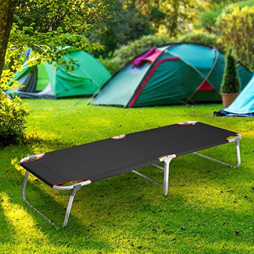 Magshion Portable Military Fold Up Camping Bed Cot Free Storage Bag- 7 Colors