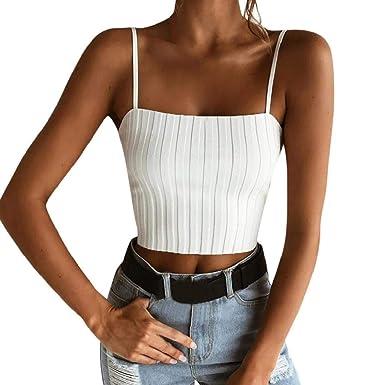 terbklf - Camiseta de Tirantes para Mujer - Blanco - XX-Large ...