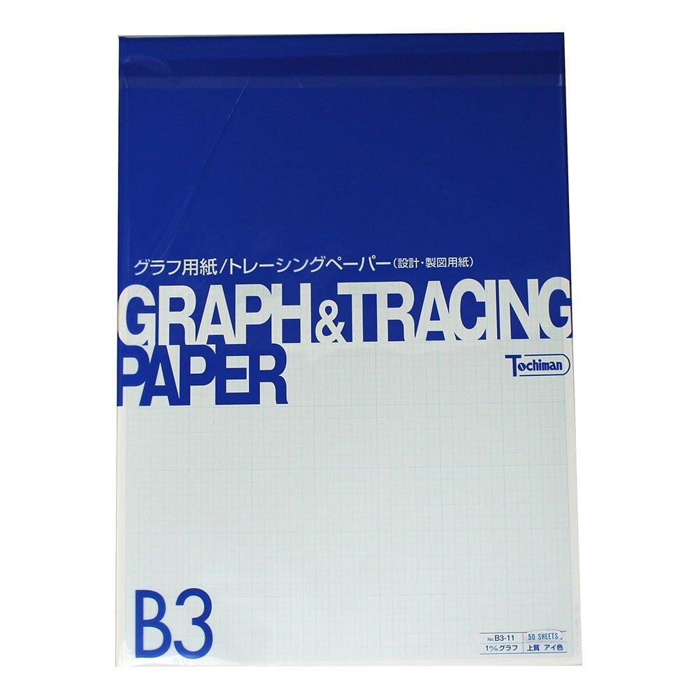 Sakaeshigyo 1mm graph paper quality paper 81.4g / m2 B3 50 sheets B3-11