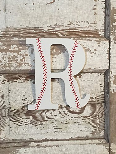 Boys Baseball Sports Decorative Wooden Wall Letters, Basebal