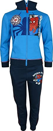 Niños Marvel Spiderman Chándal / Jogging Conjunto Azul Marino-8 ...