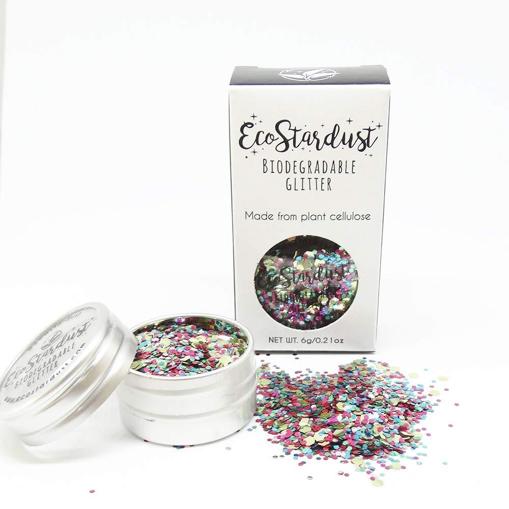 Ecostardust ananas biodegradabile glitter ✶ festival Bioglitter cosmetici viso corpo capelli unghie Purpose Products Group Ltd 5064/MIX/6GT
