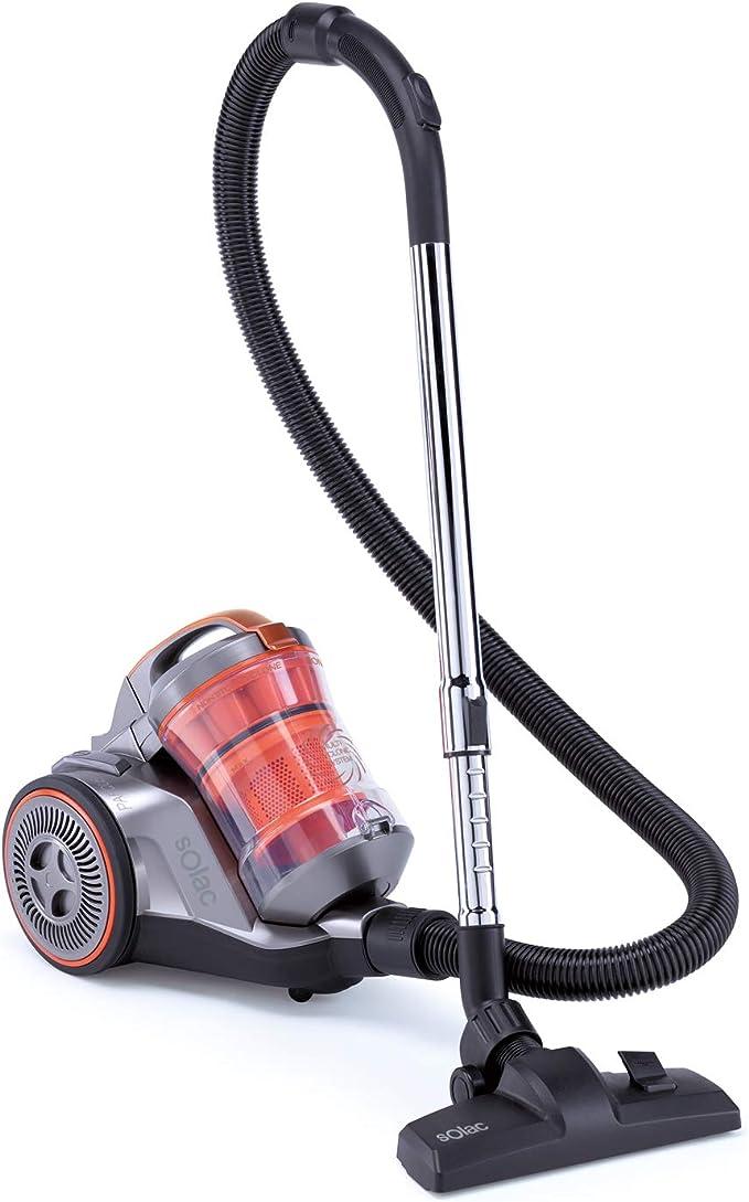Taurus Brave Aspirador sin bolsa con sistema multiciclónico, 800 W, AAA, Filtro HEPA, 3 L, Recogecables automático, Plástico, Gris: Amazon.es: Hogar