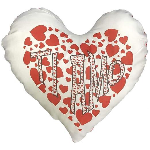 BrolloGroup cojín Corazón TI Amo San valentín 42 x 38 cm PS ...