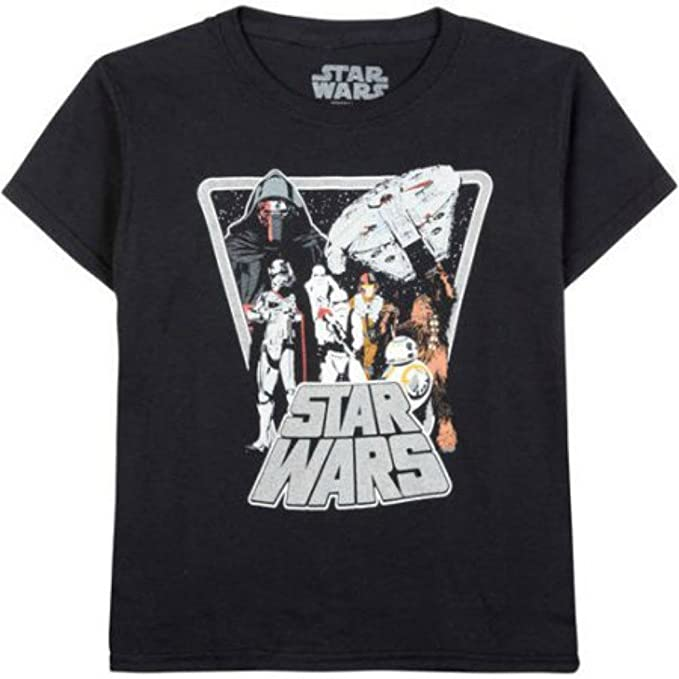 cc6b11727 Amazon.com: Star Wars Classic Group Shot Boys Graphic Tee (XL (14-16 ...