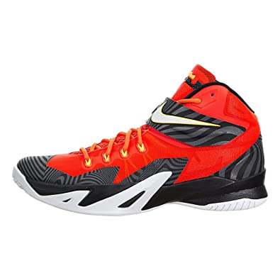 online retailer 74523 b8e58 Nike Men s Zoom Soldier VIII PRM Bright Crimson White Black Basketball Shoe  10.5 Men