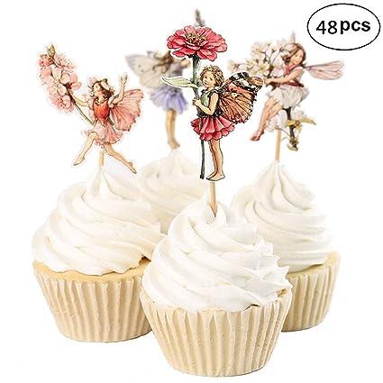 Adornos de unicornio para cupcakes, divertidos unicornios ...