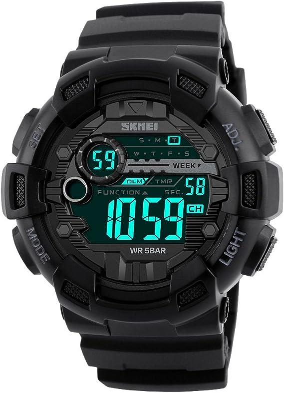 TONSHEN Digitales Relojes de Pulsera de Hombre Impermeable 50M ...