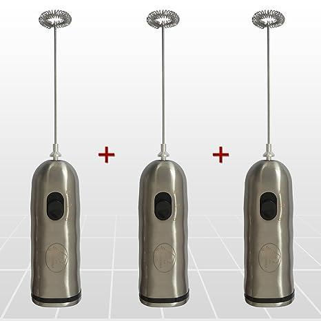 3 Unidades - Espumador de leche, mezclador de la bebida y fabricante de la espuma