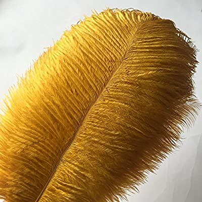 KOLIGHT Set of 50pcs 14''~16''(35~40cm) Natural Ostrich Feathers for DIY Home Wedding Party Office Decoration