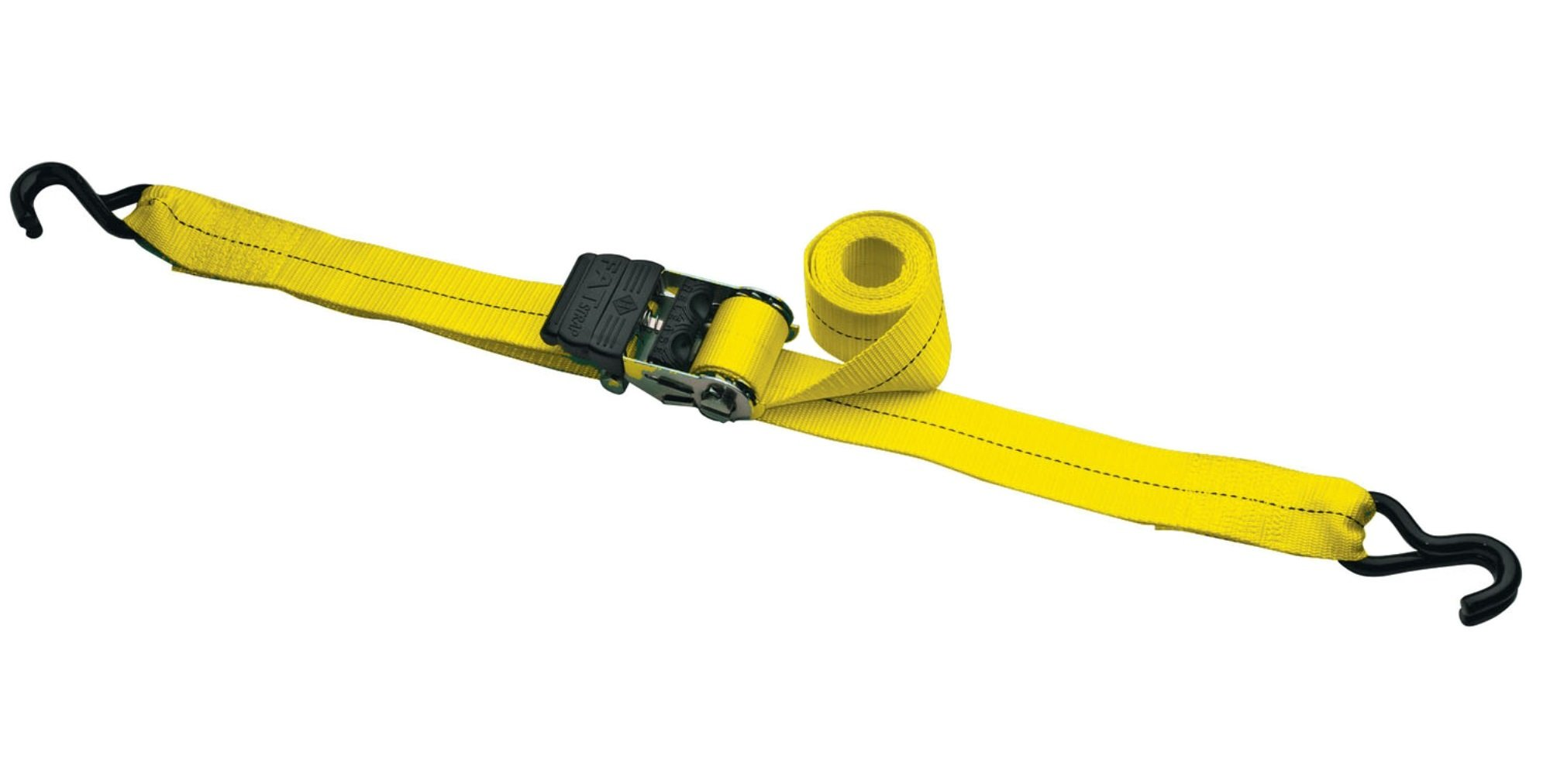 Highland 1151001 Yellow 10' Fat Strap Ratchet Tie Down with Padded Handle