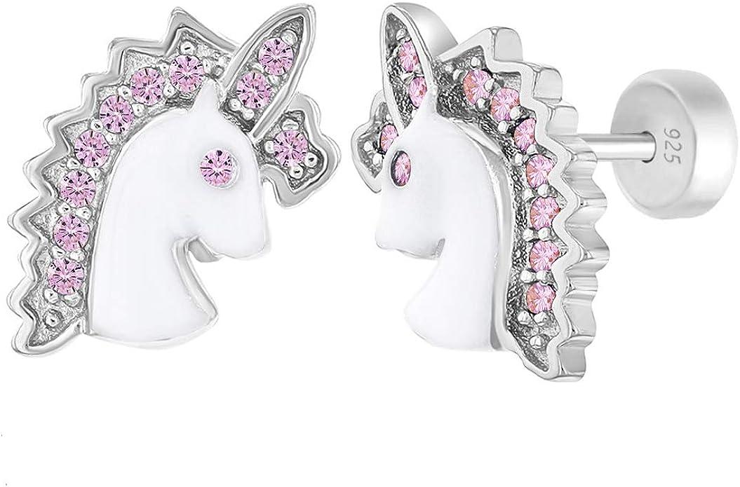 unicorn earrings earrings minimalist earrings Unicorn in 925 Silver Unicorn ear studs