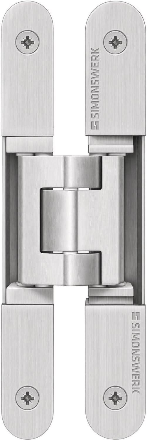 stumpfe T/üren verdeckt f Edelstahl-Effekt Simonswerk 5 400679 0 12602 T/ürband TECTUS TE 240 3D N