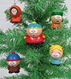 SOUTH PARK 4 Piece Ornament Set Featuring Eric Cartman, Stan Marsh, Kyle Broflovski, Kenny McCormick and Butters Stotch, Ornaments Average 2.5' Inches Tall
