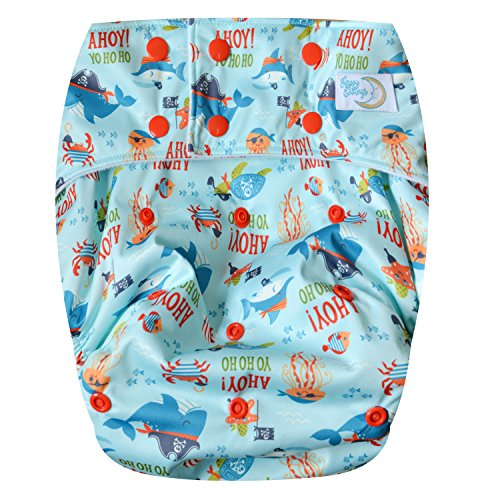 Teen / Adult Cloth Diaper (Ahoy, Ocean!)