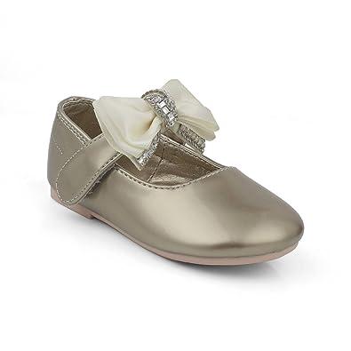 611335945 KITTENS Girl's Gold Ballet Flats - 6 Kids UK/India (24 EU): Buy ...