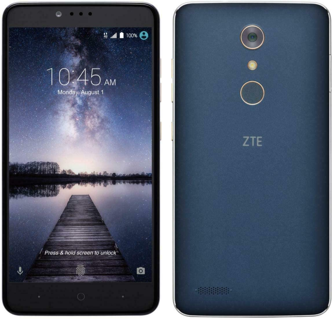 ZTE ZMAX PRO Z981 4G LTE 13MP Smartphone (Metro PCS/T-Mobile) (Encerado): Amazon.es: Electrónica