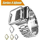 Maxku Apple Watch Series 4 ケース 40mm ケース 高品質PC メーキ加工 耐衝撃性 脱着簡単 超薄 アップル ウォッチ シリーズ4 40mm カバー 4色選択可能 (シルバー)