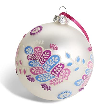 Limited Edition Vera Bradley Christmas Ornament in Alpine Floral - Amazon.com: Limited Edition Vera Bradley Christmas Ornament In