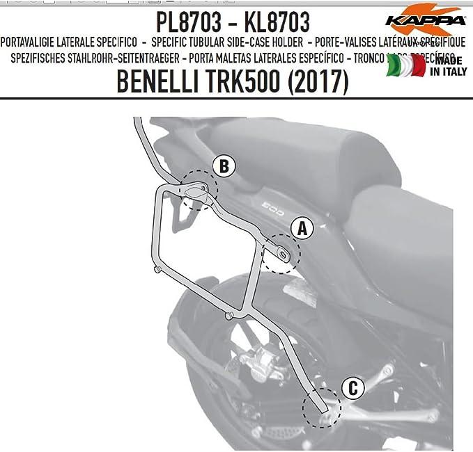 Kappa Fit FÃœr Kl8703 Telai Laterali Specifici Supporto Per Valigie Monokey Auto
