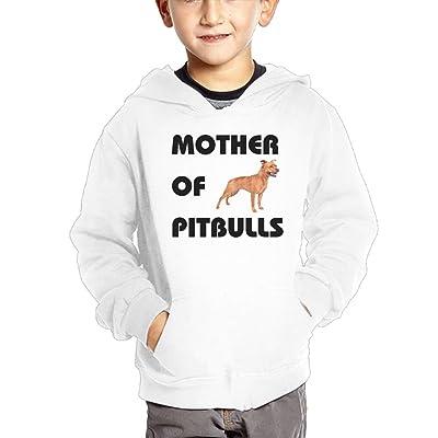 Qij Cloth Mother Of Pitbulls Boy Sweatshirts Cotton Soft and Cozy Sweatshirts Hoodies