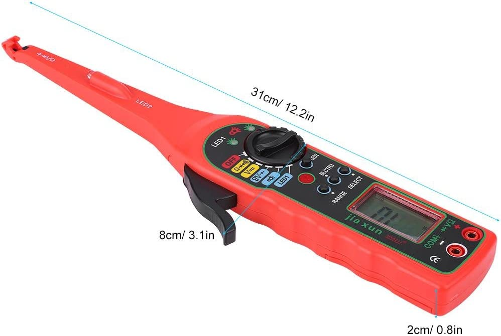 Red Car Digital Pencil Electric Diagnostic Tool Power Probe Tension Test Red Aramox Auto Circuit Tester Multimeter