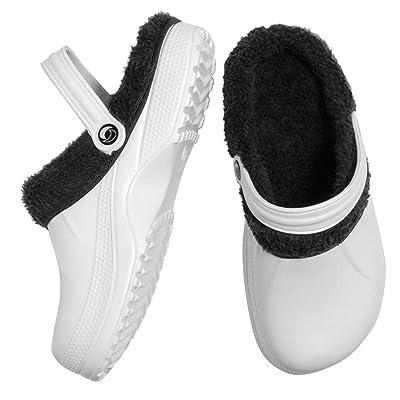 Warm Indoor Outdoor Slippers - Cozy Light-Weight Clogs/Garden Sandals White | Slippers