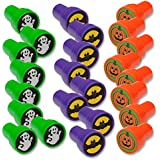 Halloween Stampers 1.38 in (24 Pack) ~ Bats, Ghosts, Pumpkins