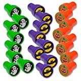 Toys : Halloween Stamps; Includes: Bats, Ghosts, Pumpkins Pack of 24