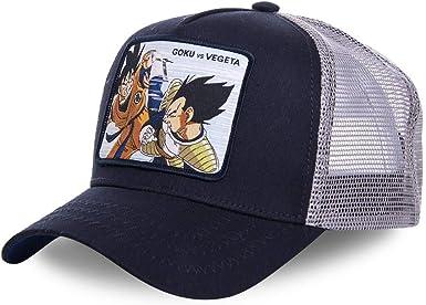 capslab - Gorra Dragon Vall Z - Goku & Vegeta Negra - Talla Unica ...