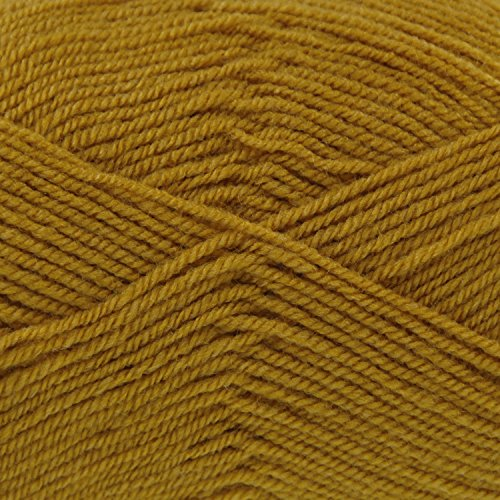 King Cole Pricewise Double Knitting Yarn 100% Acrylic DK Wool 100g Ball (Mustard - 1740) - Choice Yarn Mustard