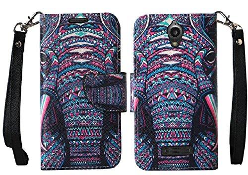ZTE Zmax 2 Case, AT&T Go Phone ZTE ZMAX 2 Wallet Case by iViva For Luxury Magnetic ID Folio Book Wallet Case + A Touch Sensitive Stylus Pen
