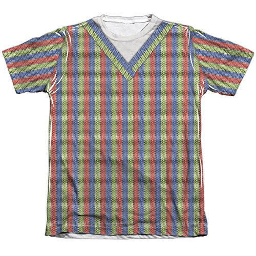 A&E Designs Bert Costume Sublimation Tee Shirt (Front & Back), Small ()
