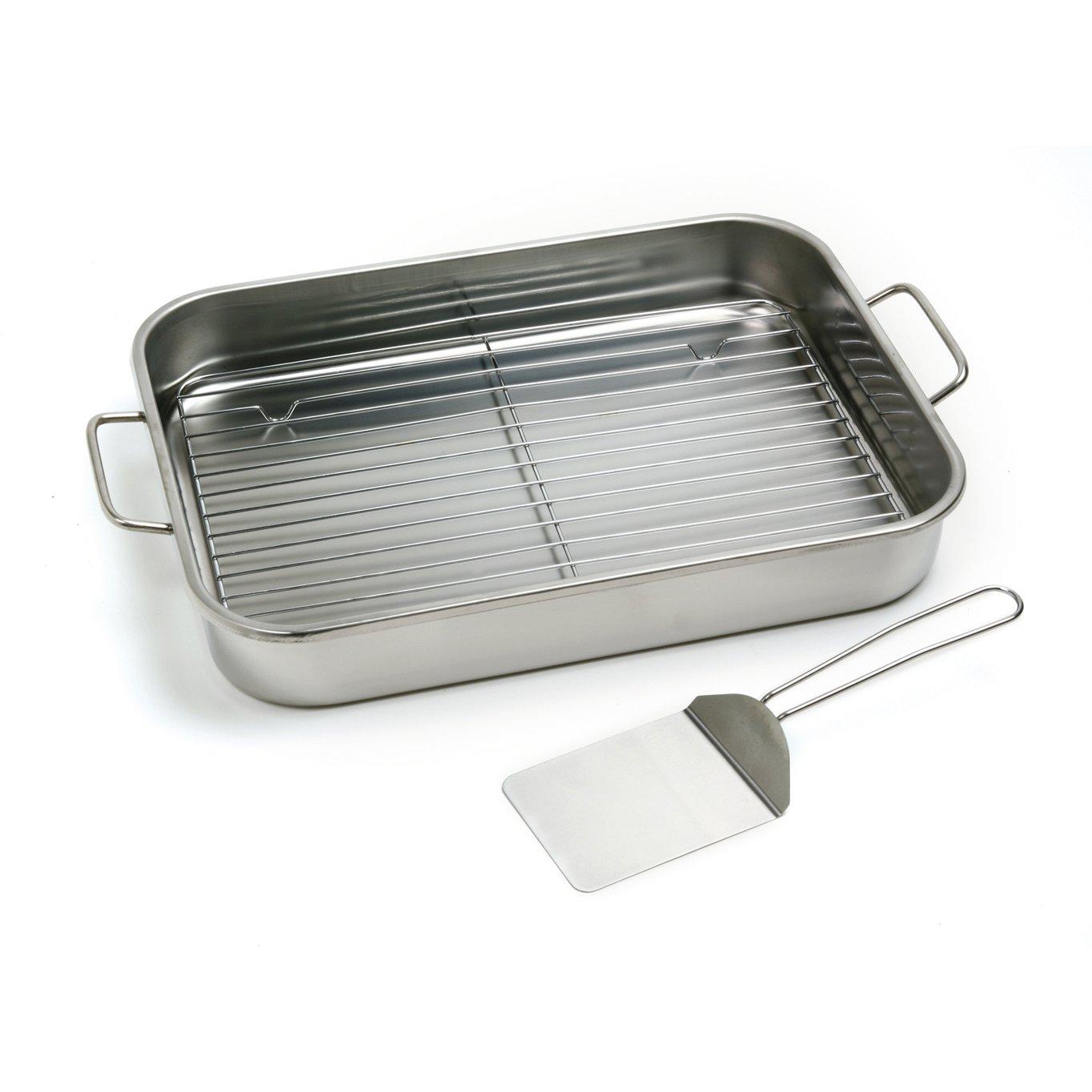 Norpro 12 by 16 Inch Stainless Steel Roast Lasagna Pan